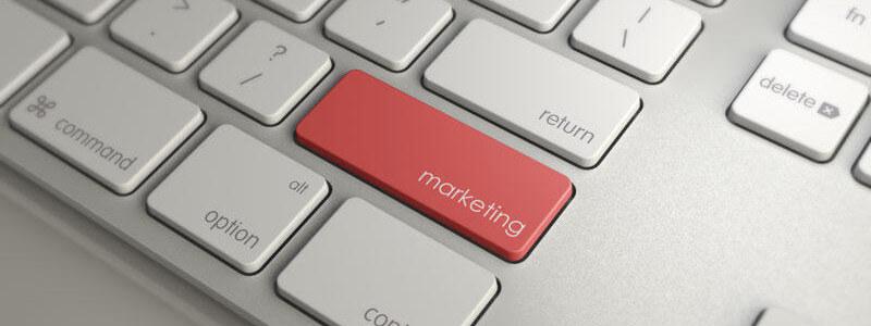 кнопка Marketing на клавиатуре - картинка для статьи веб-студии poollooq/LAB из Киева